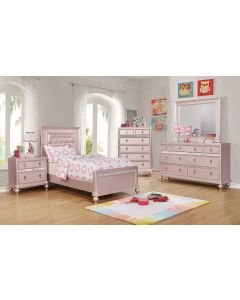 Gabrielle 6PC Rose Gold Twin Bedroom Set