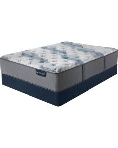 Serta Icomfort Hybrid Blue Fusion 100 Firm Complete Mattress Set - Queen