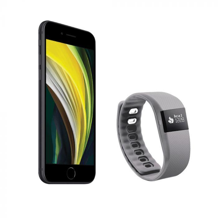 "iPhone Bundle: Apple iPhone SE 4.7"" + Gem Fitness Tracker"