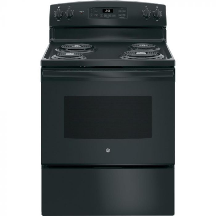 GE JB256DMBB 5.0 Cu. Ft. Self-Cleaning Freestanding Electric Range - Black