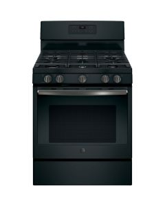 GE JGB660FEJDS 5.0 Cu. Ft. Self-Cleaning Freestanding Gas Range - Black Slate