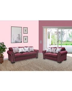 Kara Wine 2PC Living Room Set
