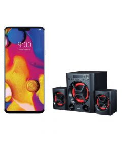 LG Bundle: LG V40 Thinq 64GB Unlocked + Black Bluetooth Music System