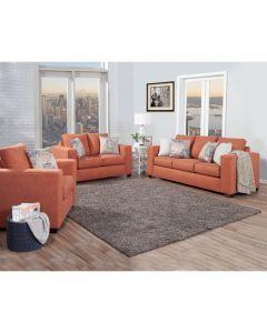 Madalyn Sofa & Loveseat Orange