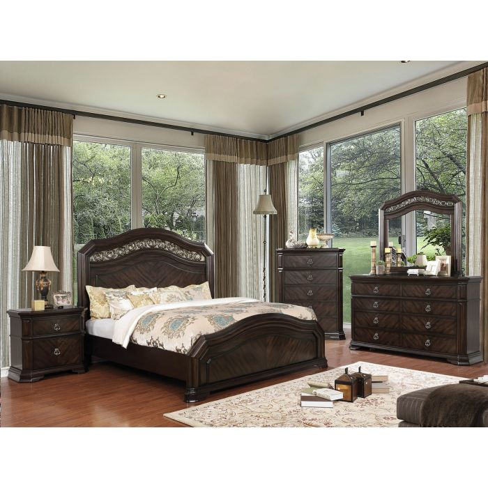 Meagan 6PC E King Bedroom Set