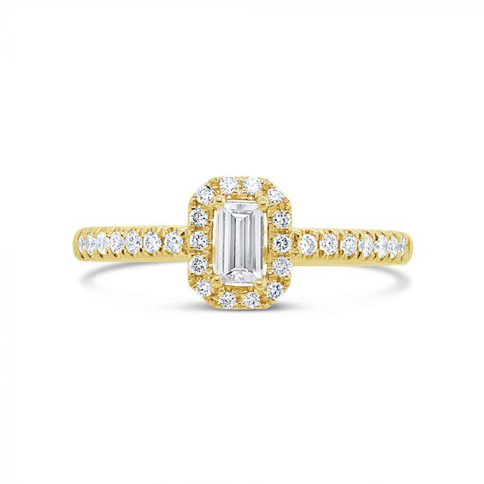 14K Yellow Gold .38Ct Diamond Engagement Ring