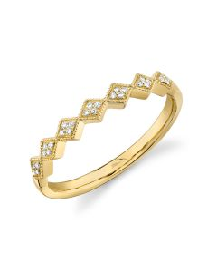 14K Yellow Gold .05Ct Diamond Lady's Band
