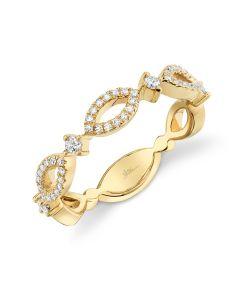 Shy Creation 14K Yellow Gold .22Ct Diamond Ring