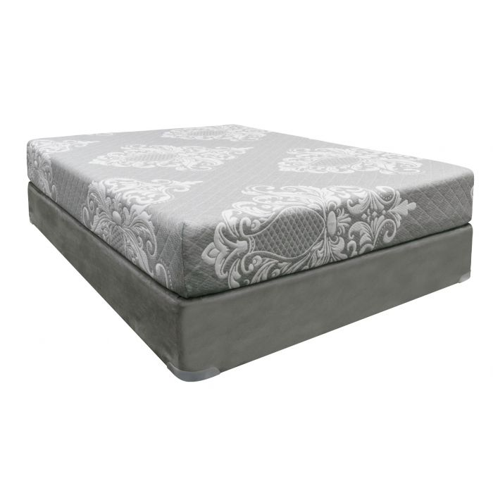 Silver Rest Topaz Plush  Mattress Set - Twin