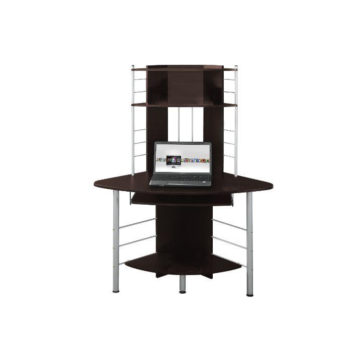Corner Desk with 5 Levels - Dark Brown