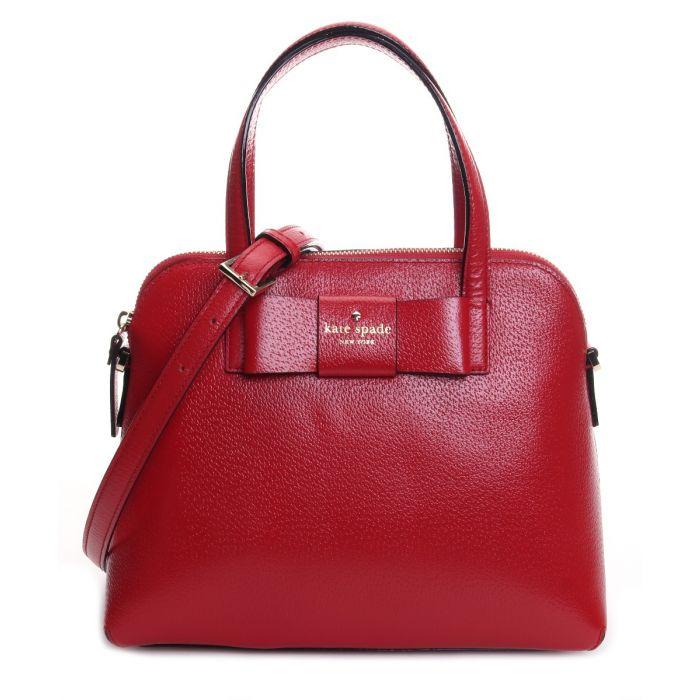 Kate Spade Maise Matthews Street Carpet Bag- Red