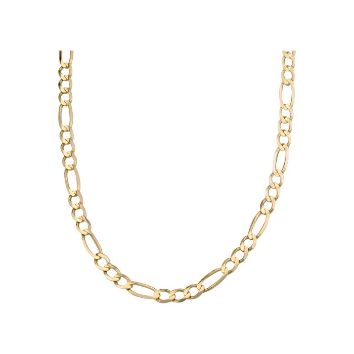 14k Yellow Gold Men S Figaro Chain Necklace