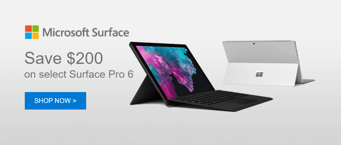 Save $200 ON SELECT surface pro