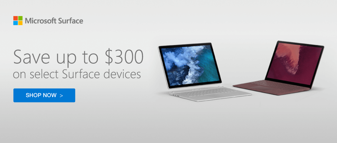 Save up to $300 on Surface Book 2