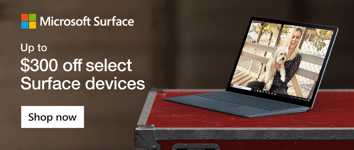 Microsoft Surface Up to $300 Off