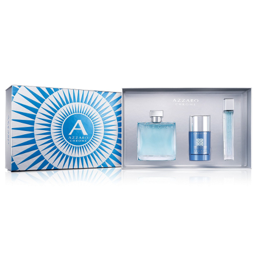 EAN 3351500008209 product image for Azzaro Chrome Men's 3 Piece Gift Set | upcitemdb.com