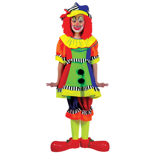 Spanky Stripes Clown Lg Child
