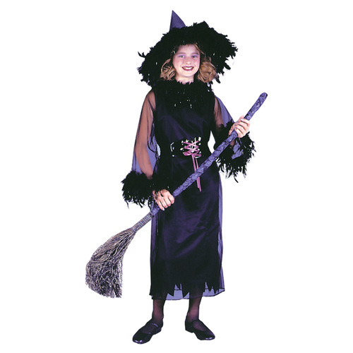 Feather Witch Blk Child Med
