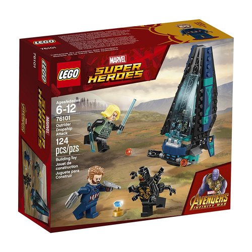 Lego Super Heroes Outrider Dropship Attack 12L-P67-76101