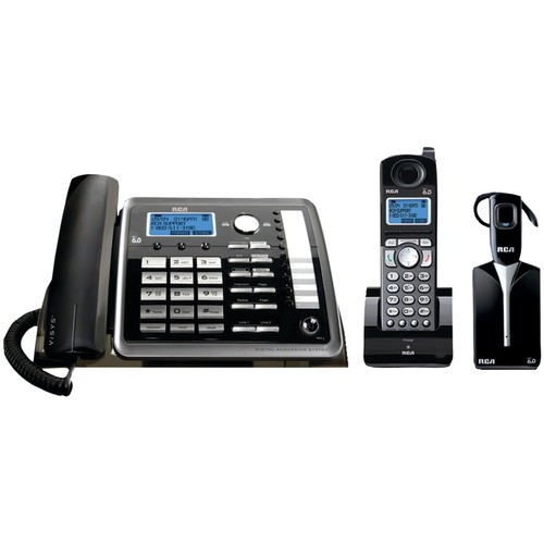 RCA 25270RE3 2-line Expandable Corded/Cordless/Headset Phone System With Caller ID & Answerer