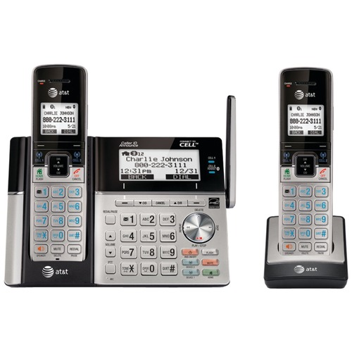 ATT TL96273 Dect 6.0 Connect-to-cell (TM) 2-handset Phone System With Dual Caller ID