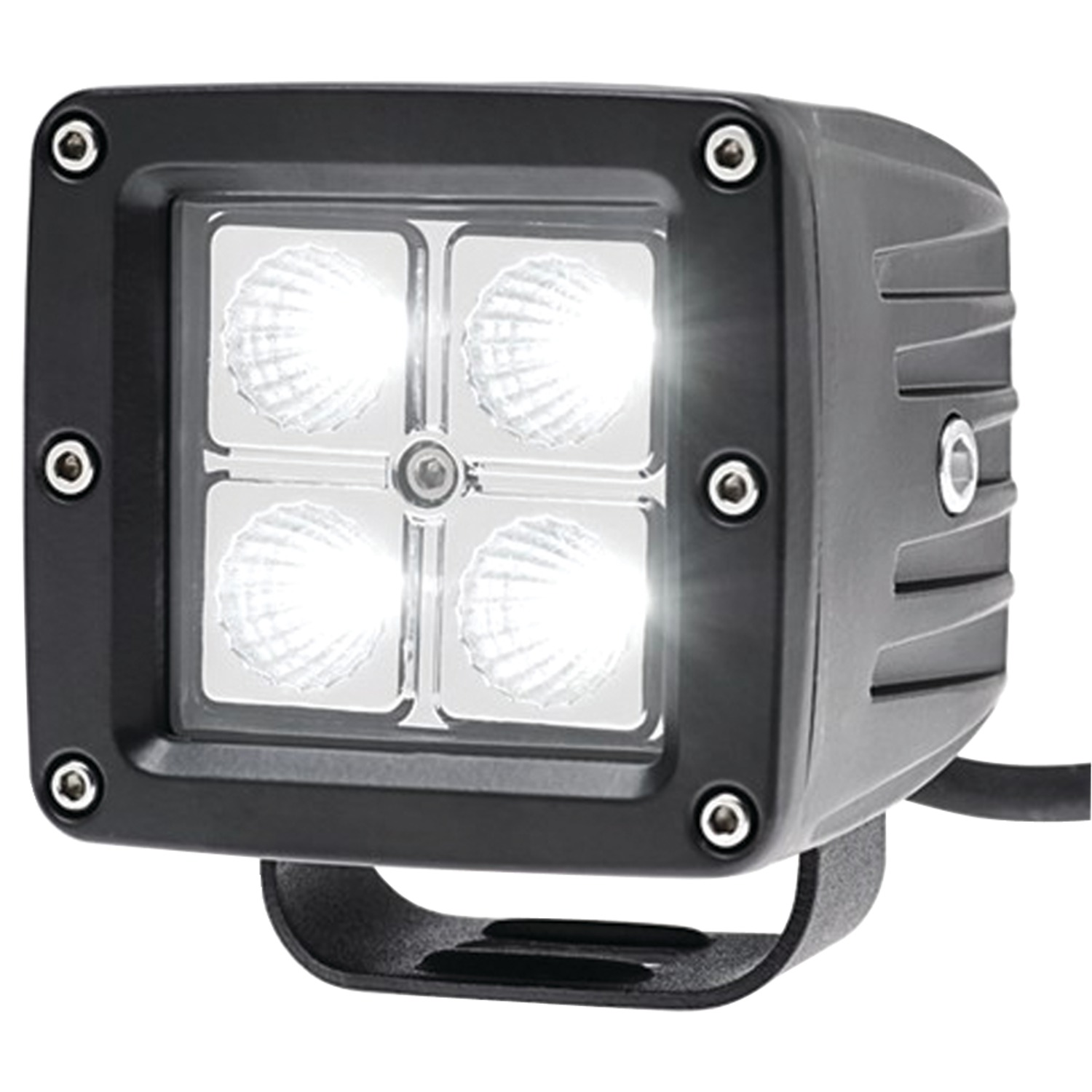 "Race Sport RS-4L-3X316W 3"" x 3.25"" 16-Watt 4-LED CREE Driving Spotlight"
