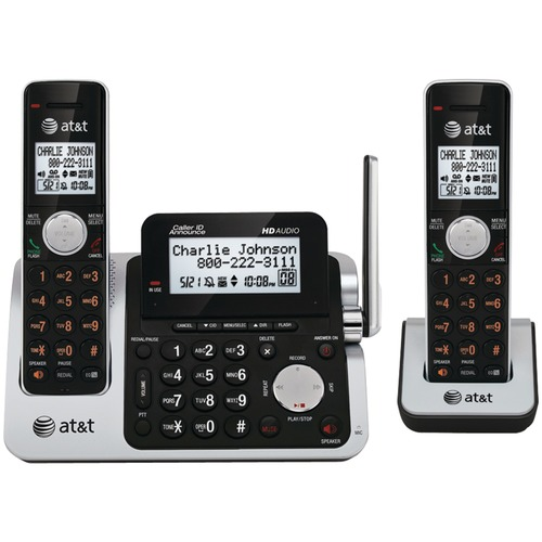 ATT ATTCL83201 Dect 6.0 Cordless Phone System With 2 Handsets & Talking Caller ID (2-handset System)