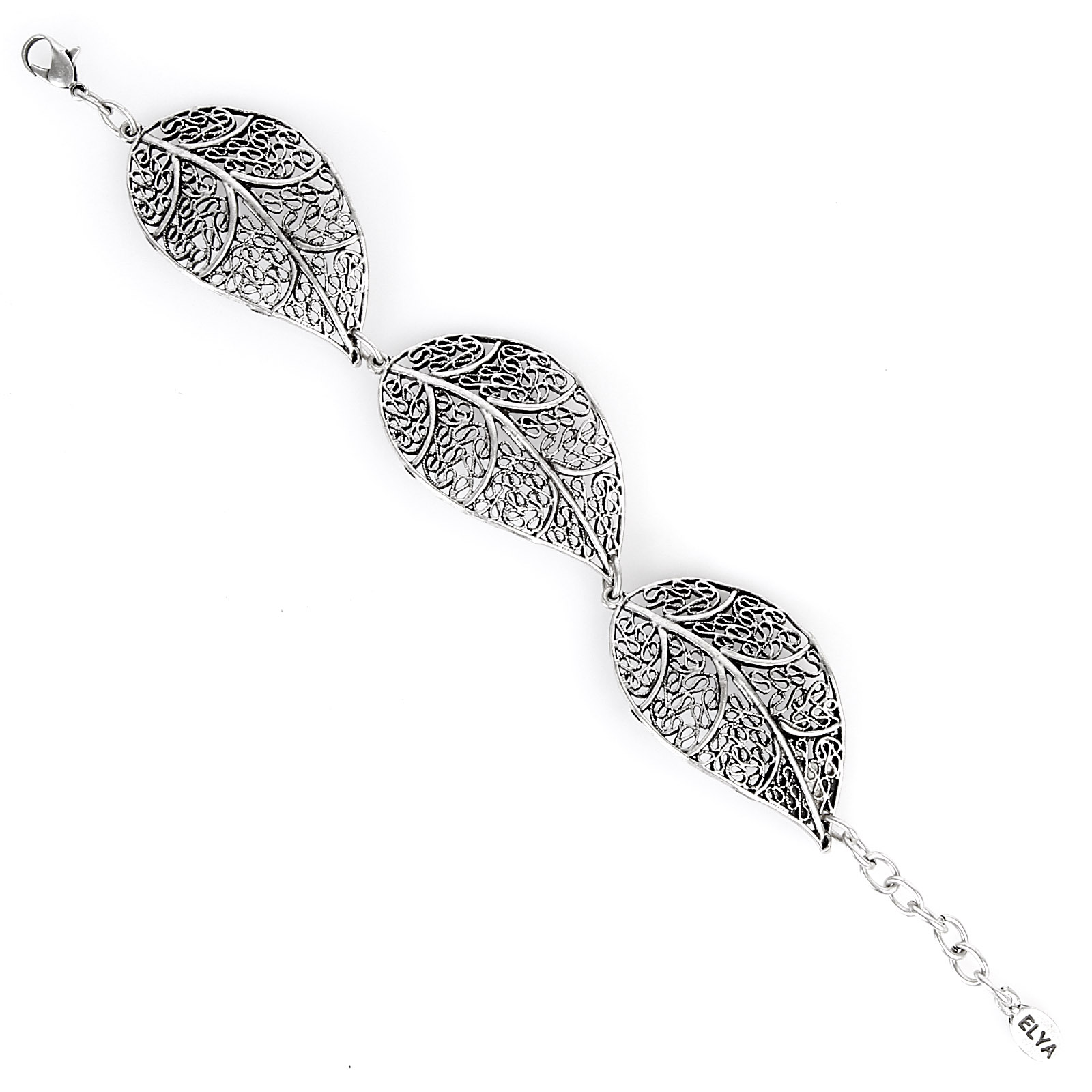 ELYA Antiqued Leaf Filigree Link Bracelet 00HG3W03F7