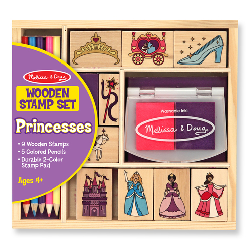 Melissa & Doug  Wooden Princess Stamp Set 00JD34045B