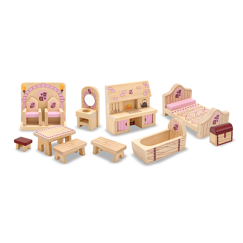 Melissa & Doug  Princess Castle Furniture Set 00JD8M045B