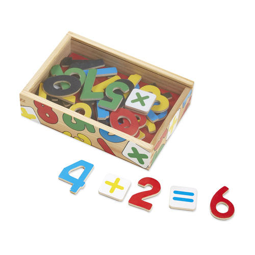 Melissa & Doug  Magnetic Wooden Numbers 00JDH5045B