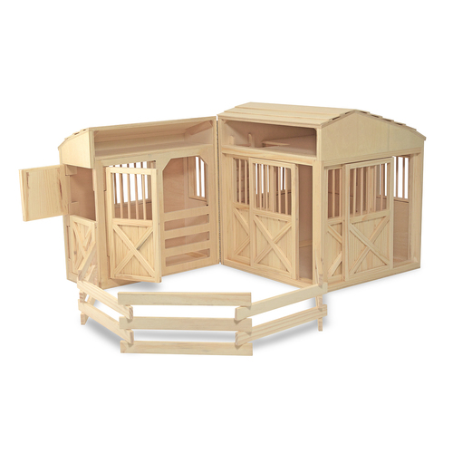 Melissa & Doug  Folding Horse Stable 00JDYB045B