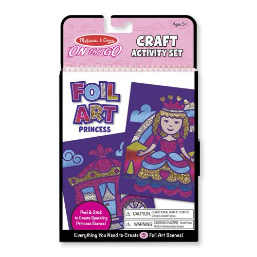 Melissa & Doug  On-the-Go Crafts - Foil Art Princesses 00JEBX045B