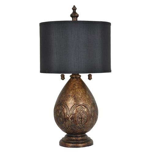 Crestview Black Gold Sullivan Table Lamp 00L2Q7013C