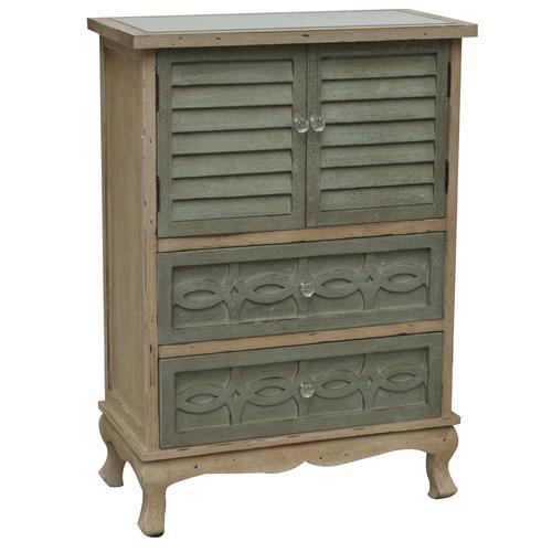 Crestview Rectangle Natural Biscayne 2 Drawer 2 Door Cottage Cabinet 00L2VY013C