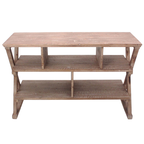 Crestview Rectangle Wood Cheyenne Media Console Table 00L2X2013C