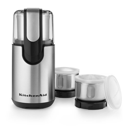 KitchenAid BCG211OB Blade Coffee and Spice Grinder Combo Pack - Onyx Black 00N4H10330