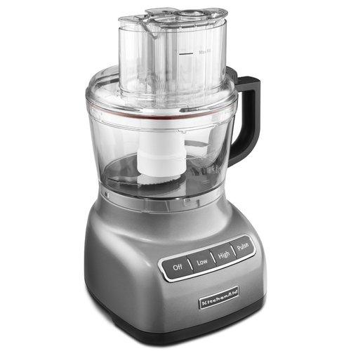 KitchenAid KFP0922CU 9-Cup Food Processor - Contour Silver 00N4QC0330