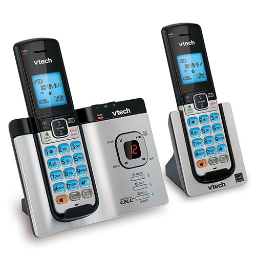 VTech DS6621/2 DECT 6.0 2 Handset Connect to Cell Phone with Caller ID/Call Waiting