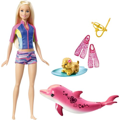 Barbie Dolphin Magic Snorkel Fun Friends Gift Set 12D-766-FBD63