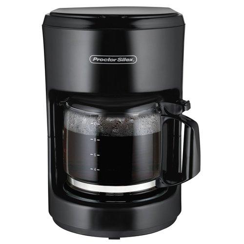 Proctor Silex 10-Cup Digital Programmable Coffee Maker - Black
