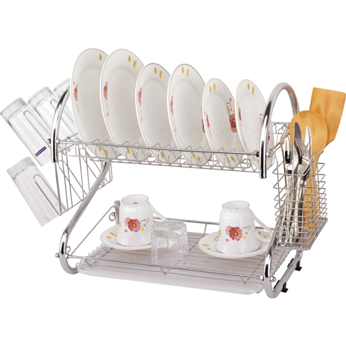 2-Tier S Shape Dish Rack