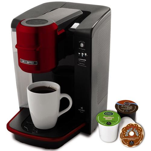 Mr. Coffee BVMCKG6R Single Serve Coffee Brewer - Red 06B-R96-BVMCKG6R