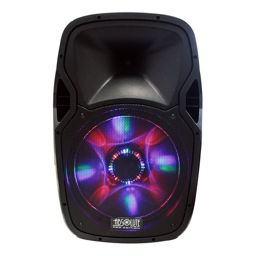 "Absolute Pro Series PPBAT3000 15"" 3000W Speaker with Built-In Bluetooth 07S-R52-USBAT3000"