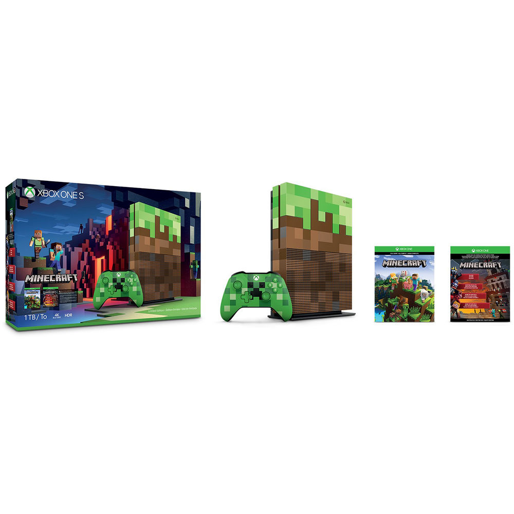 Microsoft Xbox One S 1TB Minecraft Limited Edition Bundle