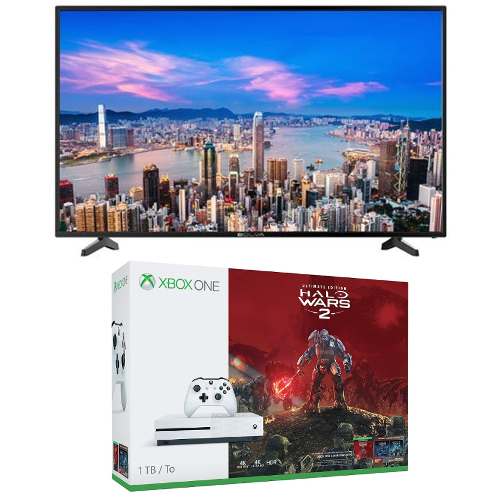 "TV Bundle: Bolva 49BL00H7 49"" / 4K Ultra HD / 60Hz TV + Xbox One S Halo Wars 2 1TB Console 08H-G58-TVBHB1+TV"