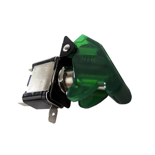 Race Sport 12V LED Toggle Switch - Green