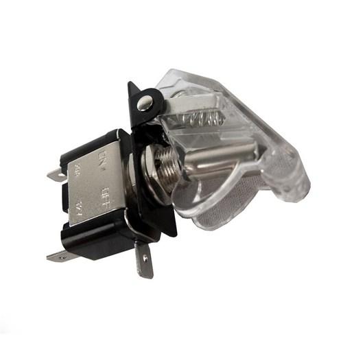 Race Sport 12V LED Toggle Switch - White