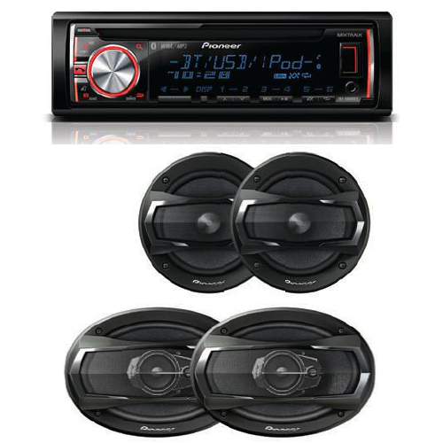 Stereo System Bundle Pioneer DEHX6600BT Bluetooth CD Player / TSA1675R 6.5