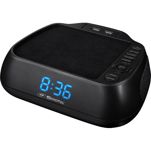 Digital Clock Radio with Dual USB Charging Station